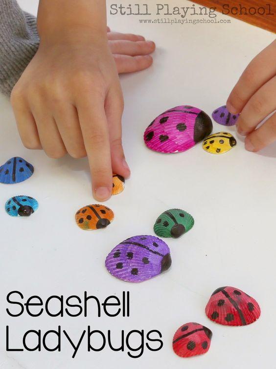 12 bricolages pour les enfants faire avec des coquillages pour enfants artisanat color et. Black Bedroom Furniture Sets. Home Design Ideas