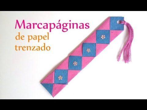 Manualidades marcap ginas de papel trenzado innova - Youtube manualidades de papel ...