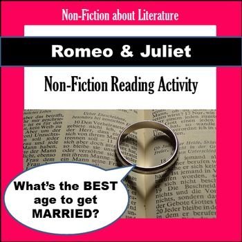 003 Romeo & Juliet NonFiction Reading Activity English