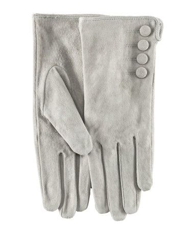 Light grey suede gloves. WANT. THESE. HM DE (they're in US stores)