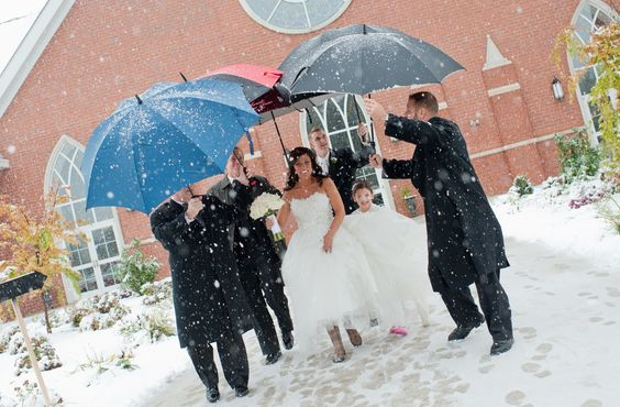 Snow wedding white wedding