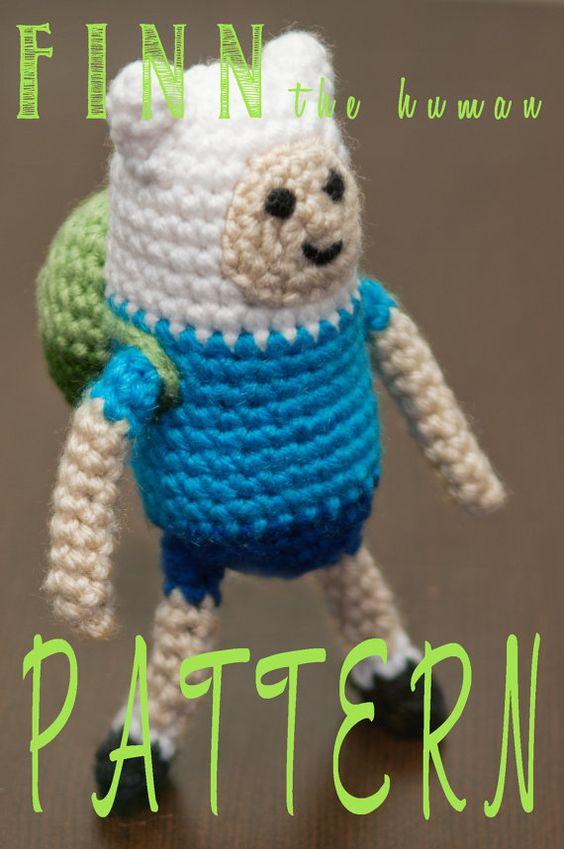 Amigurumi Love Birds Pattern : Finn the Human (Adventure Time) Amigurumi Crochet Pattern ...