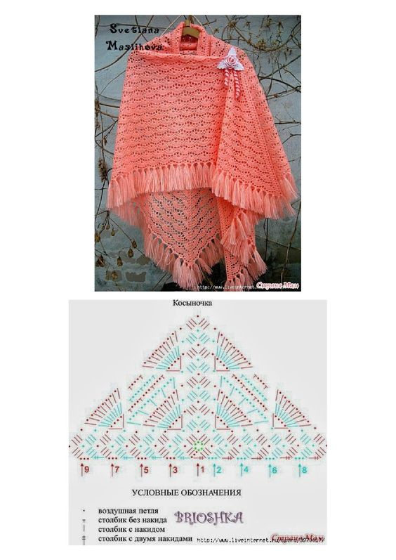 Triangle Shell Shawl