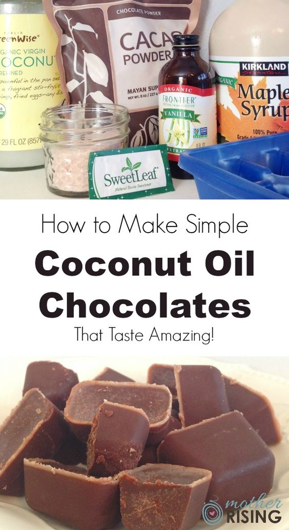 Here's how to make easy coconut oil chocolates that taste amazing and are good…