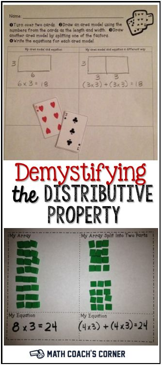 Does the mention of the distributive property make you sweat? Check out these hands-on activities for making sense of it!