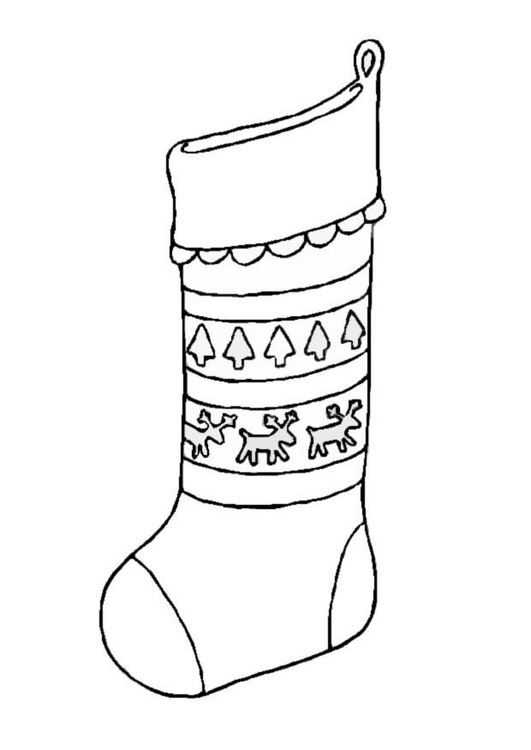 Dibujo Para Colorear Calcetin De Navidad Dibujos Para Colorear Dibujos Para Imprimir Gratis Calcetines Navidad