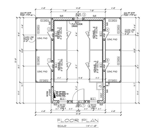 Boarding kennel designs and layouts dog cat kennels for Dog kennel layouts