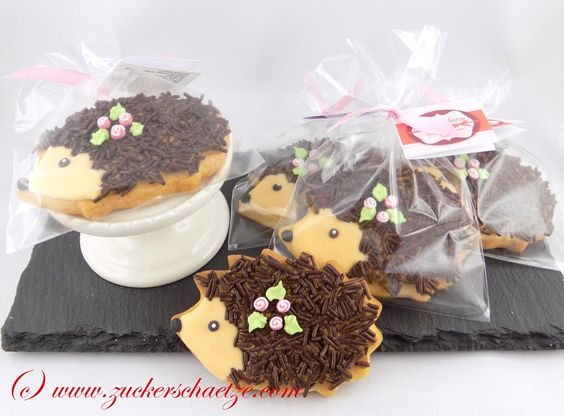 Kekse - Kekse Igel mit Schokostreusel 5 Stück - ein Designerstück von…