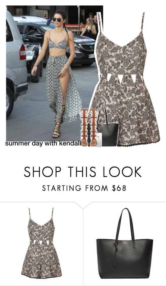"""""""summer day with kendall"""" by zalix ❤ liked on Polyvore featuring Topshop and Yves Saint Laurent"""
