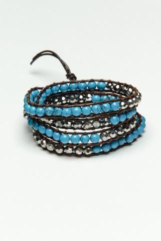 King ICE Turquoise Wrap Bracelet