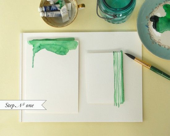 Watercolor stationary! This has been on my to-do list for a while now.