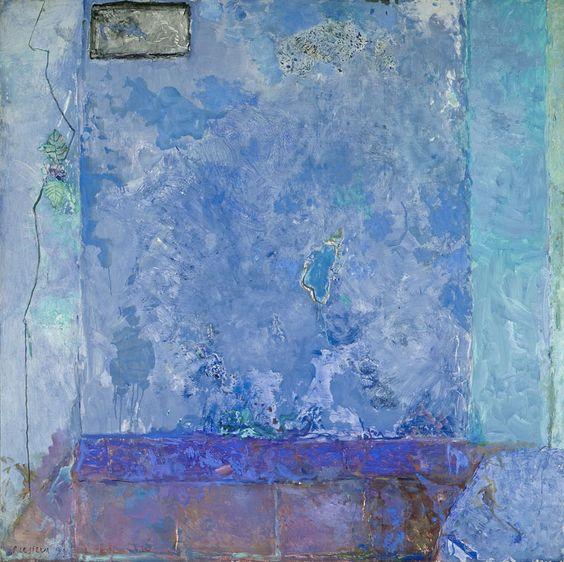 PIERRE LESIEUR, Intérieur bleu, 1990, 152x152