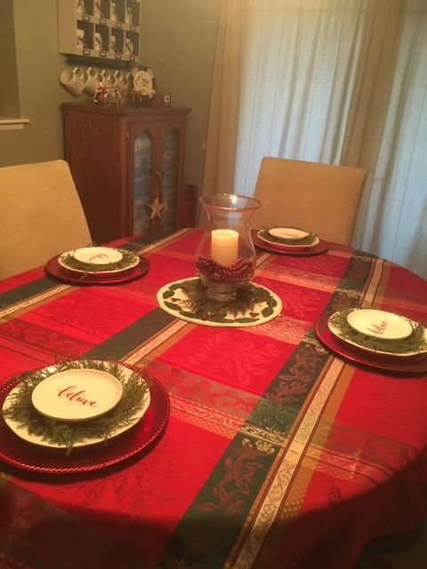 Christmas 2018 Dining Table Tablecloth From Homegoods Red
