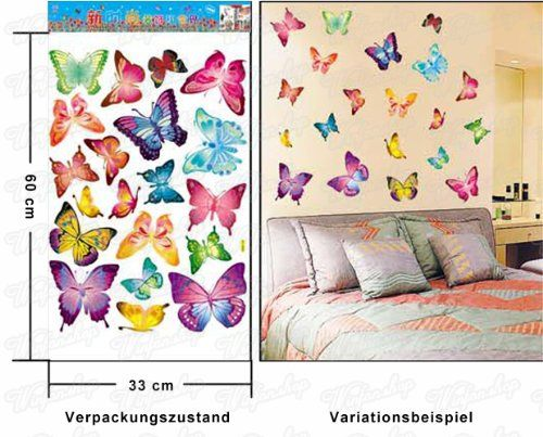 Wandaufkleber Wandtattoo Wandsicker wallsticker Schmetterlinge WAK-037: Amazon.de: Küche & Haushalt