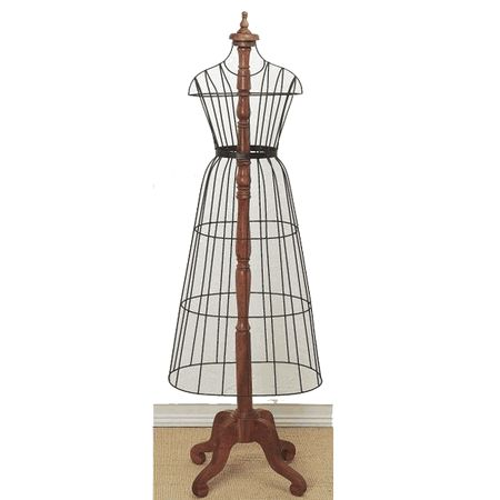 Dr Livingstone Wire Dress Form w/ Wooden Post - DL316