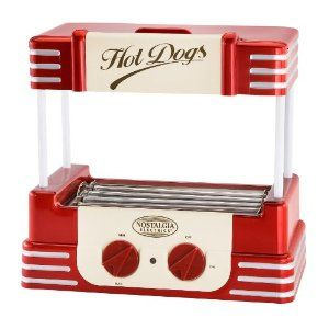 Nostalgia Electrics RHD-800 Retro Series Hot Dog Roller Helman Group $41.17 #retro #nostalgic #hot dog roller