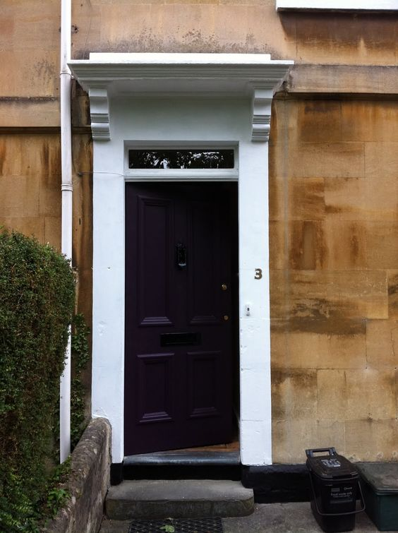 Classic Georgian Cotswold house Farrow and Ball Pelt front door