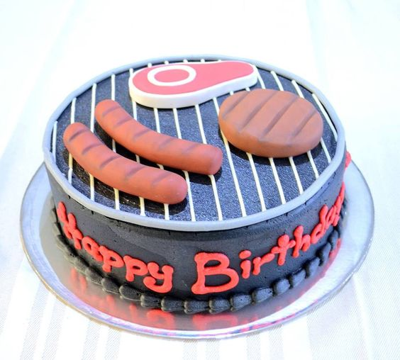 BBQ Cake For Him. Dad Or Male Birthday Cake