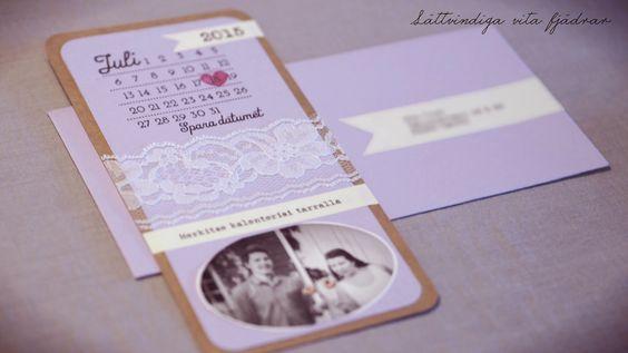 Itse tehty save the date-kortti. Hand made save the date-card. Själv gjort spara datumet-kort.