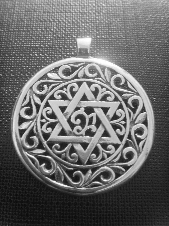 DAVID+STAR+kabala+Jewish+Judaic+Judaical+symbol+and+by+silver999,+$39.99