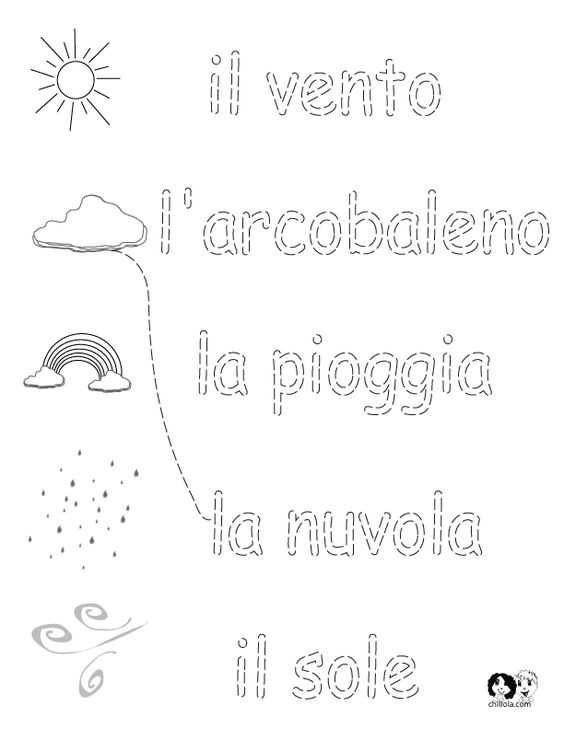 Worksheets Italian Language Worksheets italian worksheets for kids spring printout activities children