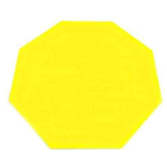 Octagon Serving Mats, Centerpiece/Table Protectors In Yellow Acrylic