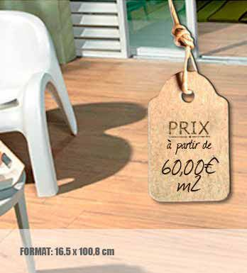 Le carrelage terrasse 3500 est un carrelage imitation for Carrelage imitation parquet blanc