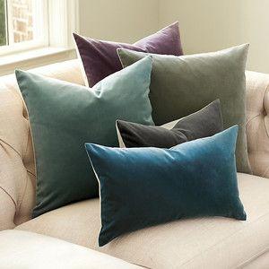 ballard designs signature velvet linen pillow cover 12 x