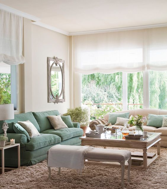 Lovely soft colors and details in your interiors. Latest Home Interior Trends.