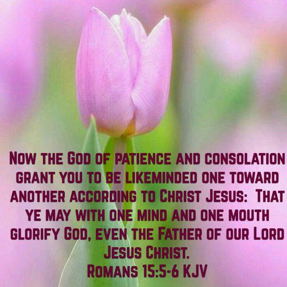 Romans 15:5-6 (KJV):