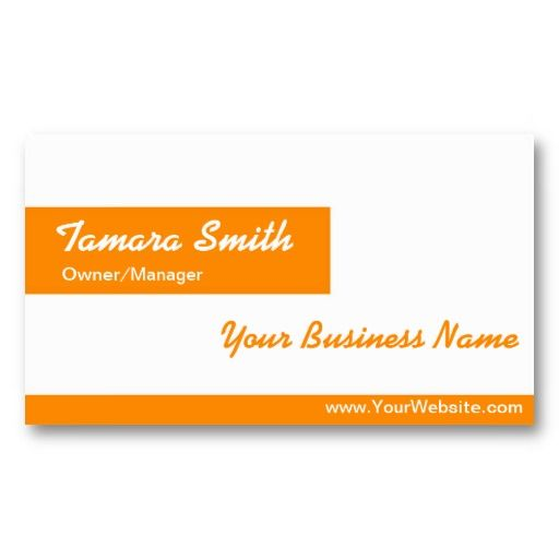 orange white business card template unique and elegant