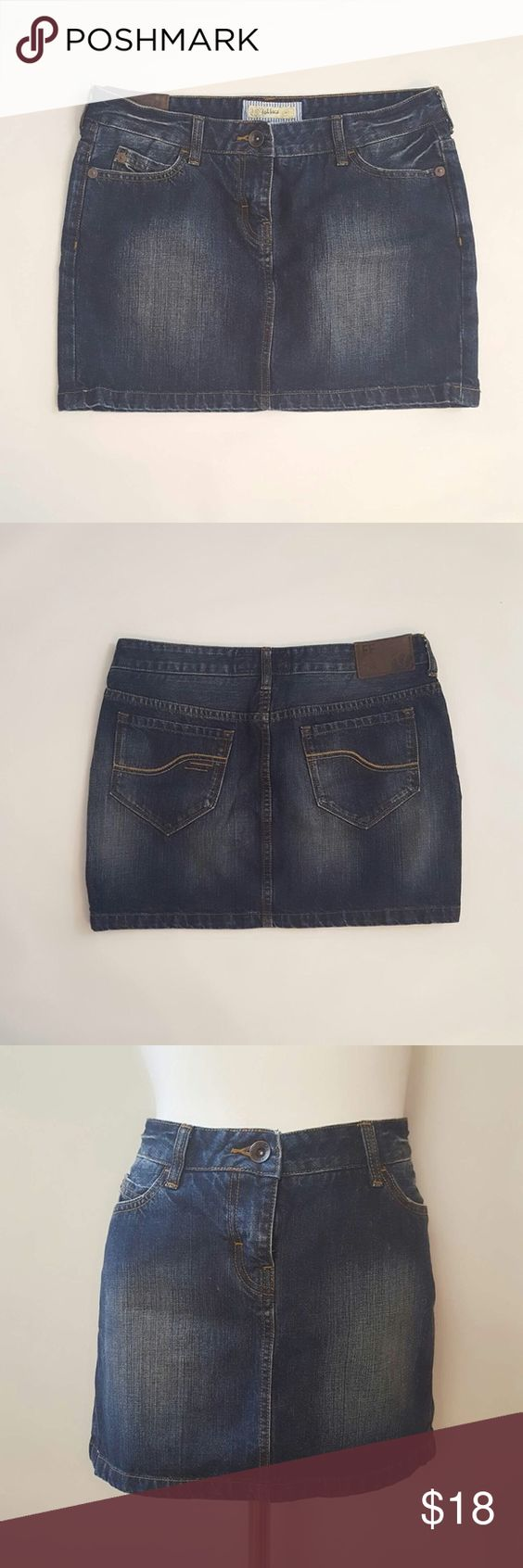 Fat Face Denim Mini Skirt