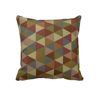 Colorful Geometric Pillow