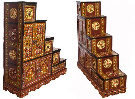 Kommoden - Massivholz Treppenschrank LINKS 950 eu