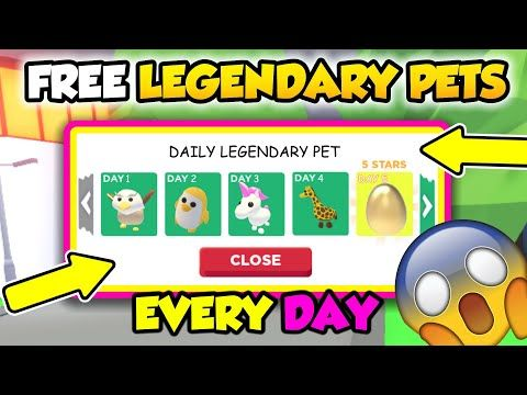 How To Get Free Legendary Pets Everyday In Adopt Me Roblox Youtube In 2020 Pets Roblox Adoption