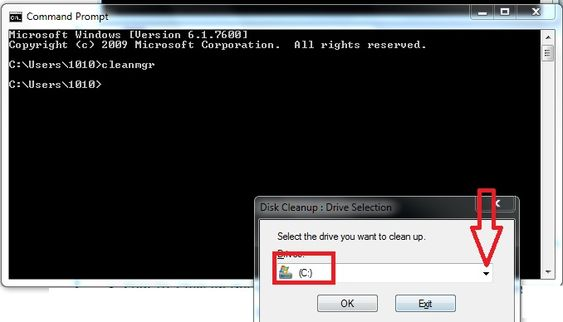 Fix AOL Mail Error Code 521 5.21- command cleanmgr