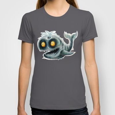 Whale T-shirt by Riccardo Pertici - $22.00