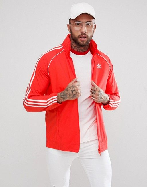 available latest design buy cheap adidas Originals adicolor Superstar Track Jacket In Red ...