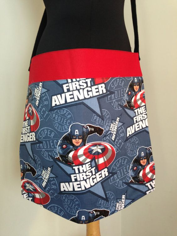 Captain America Star Large Carry All Bag / by PrettySpookyHandmade, $35.00