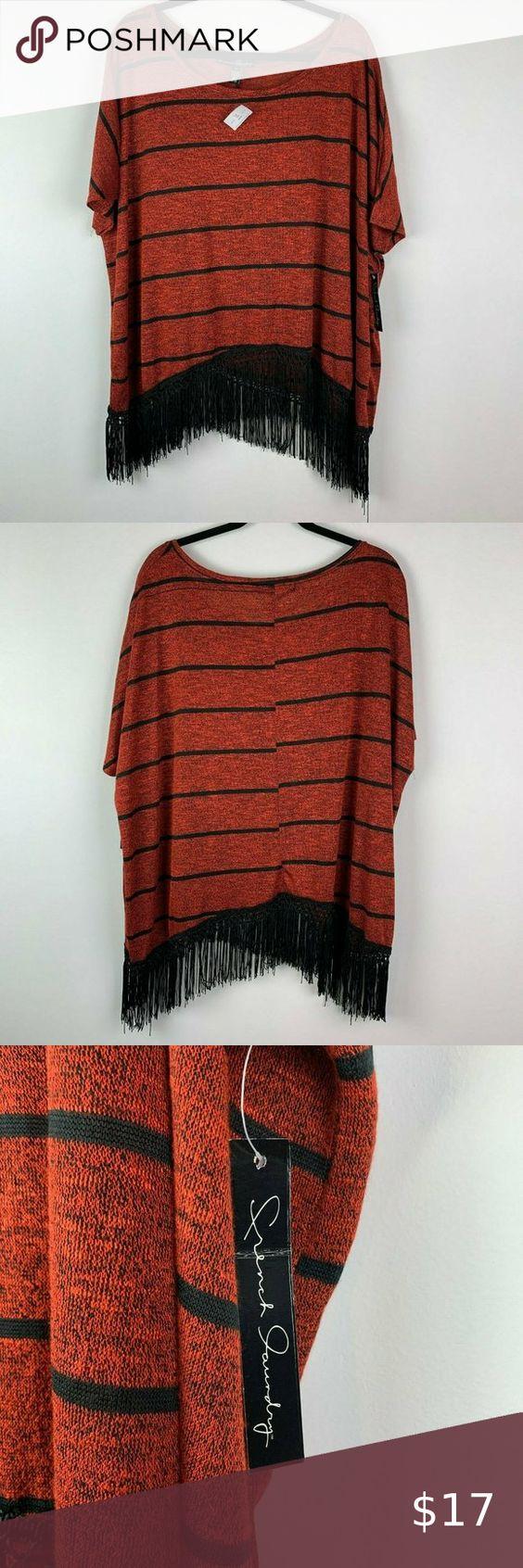 French Laundry Rust Strip Boho Shirt Short Web Sle In 2020 Boho Shirts Shirts Clothes Design