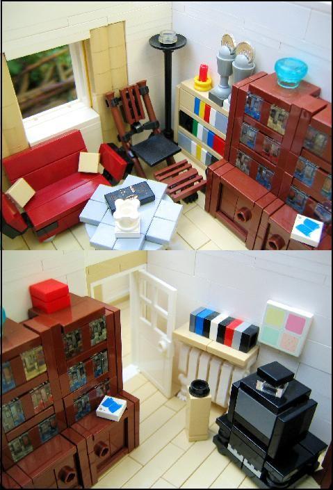 Lego Interiors And Amazing Lego Creations On Pinterest