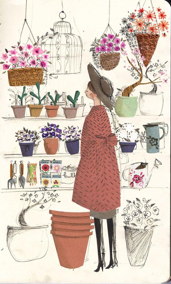 The flower shop  by Emma Block