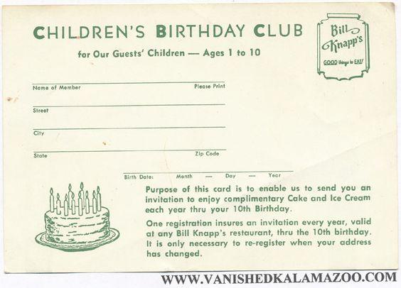 Bill Knapps Birthday Cake
