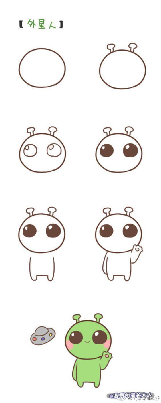 Easy Cute Cartoon Things To Draw