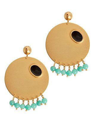 Paula Mendoza Emerald Detail Sphere Earrings