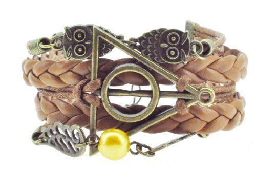 Harry Potter Deathly Hallows Owl Bracelet, Braided Leather Bracelet, Infinity Bracelet, Believe Bracelet Hinky Imports,http://www.amazon.com/dp/B00DYZ8PU0/ref=cm_sw_r_pi_dp_Y7d9sb1AH8PCY1NG
