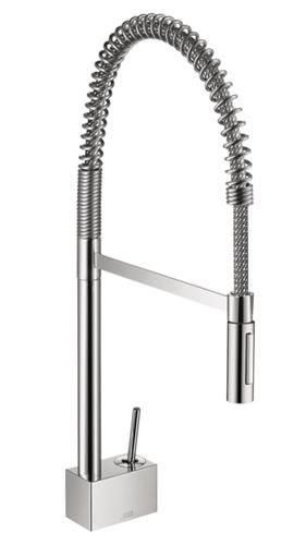 Hansgrohe 10820001 Axor Starck Semi-Pro 2-Spray Kitchen Faucet, Chrome at PlumberSurplus.com