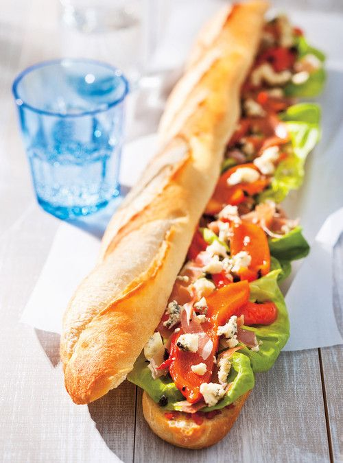 Sandwich rassembleu recette jambon de parme baguette - Recette sandwich froid baguette ...