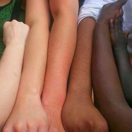 Different shades of the same race.  Human.