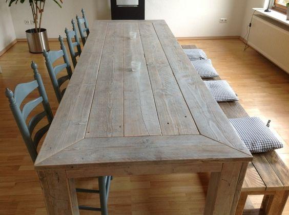 Küchentisch shabby chic  BauholzDesign Tisch 250 Shabby chic | Shabby